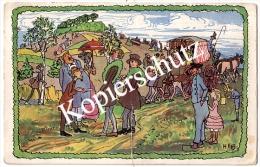 H. Vogler, Ein Sonntag Am Weyerberg, Worpswede 1918  (z1719) - Worpswede