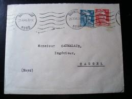Enveloppe Cathelain,Cassel (Nord),N°807(émeraude) Et 721A - 1945-54 Marianne Of Gandon