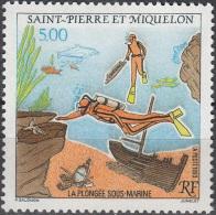 Saint-Pierre & Miquelon 1993 Yvert 574 Neuf ** Cote (2015) 2.50 Euro La Plongée Sous-marine - Neufs