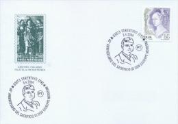 Italia 2004 Annullo Speciale Su Cartoncino Ferentino Resistenza 60° Della Fucilazione Di Don Giuseppe Morosini - WW2 (II Guerra Mundial)