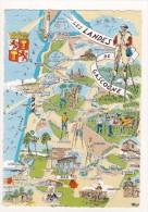 """Les LANDES De GASCOGNE - Série """"Les Provinces Françaises"""" - Carte Départementale Illustrée - Non Classés"""