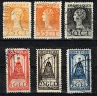Pays-Bas - 1923 - Y&T N° 123 à 128, Oblitérés - Usados