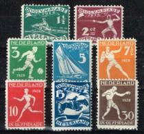 Pays-Bas - 1928 - Y&T N° 199 à 206, Neufs Avec Traces De Charnières. J.O. D´Amsterdam - 1891-1948 (Wilhelmine)