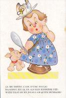 Ca Me Donne L'air D'une Poule. With That On My Head I Am Quite Mundane ! (chien, Femme) - Humour