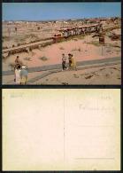 PORTUGAL COR 35896 - COSTA DA CAPARICA - TRANSPORTE NA PRAIA - POUCO FREQUENTE TRAM TRAMWAY TRAMCAR TRANVIA - Setúbal
