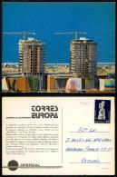 PORTUGAL COR 35897 - COSTA DA CAPARICA - TORRES EUROS ( ERRO NO SCAN MAS POSTAL Ok !!) - Setúbal