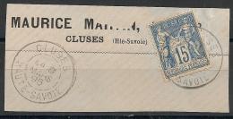 CLUSES Haute Savoie Sur SAGE. - Marcophilie (Timbres Détachés)