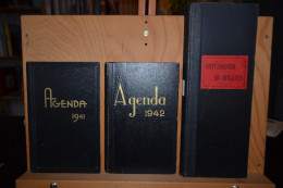 Agendas De 1941,1942, Et 1944 Rédigés Au Cochetay à Gomzé Andoumont (Sprimont) Accompagnés De Notices Généalogiques.. - Calendriers