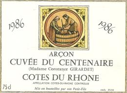 --1986--CUVEE DU CENTENAIRE (Mme Constance GIRARDET)--COTES DU RHONE-- - Seniors