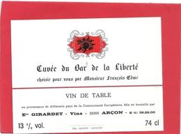 --CUVEE DU BAR DE LA LIBERTE CHOISIE POUR VOUS PAR MR Francois EDME--13°--74cl-- - Seniors