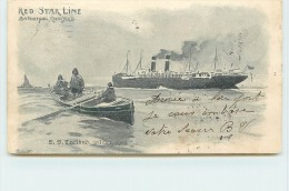 REDSTAR LINE  - S.S. Zeeland (carte Illustrée Format 14,2x 8,2cm). - Steamers