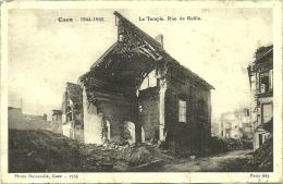 CAEN . 1944.1945. LE TEMPLE RUE DE GEOLE - Caen