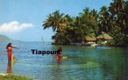 LA PECHE AU FILET A  AUAE - Tahiti