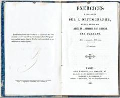 EXERCICES RAISONNES SUR L ORTHOGRAPHE 1849 PAR BONNEAU - 1801-1900