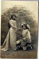 CPA Carte Photo Ecole Théatre Femme Couple Women Theater 1912 TAIN L'HERMITAGE Drôme 26 Rhône Alpes - France