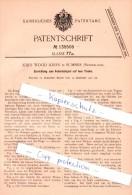 Original Patent - J. W. Jones In Summer , Neuseeland , 1901 , Tisch - Federballspiel , Federball !!! - Tischtennis