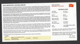 INDIA, 2011, Goa Liberation, Golden Anniversary,  Folder,  (Brochure). - India