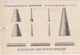 CARTE DE VISITE DE FONTAINE-LES-LUXEUIL -(70)- ETABLISSEMENT GUNTHER.. - Cartes De Visite