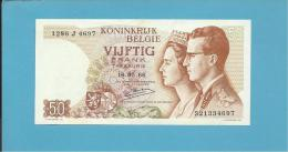 BELGIUM - 50 FRANCS - 16.05.1966 - P 139 - Sign. 20 - King Baudouin I And Queen Fabiola - BELGIE BELGIQUE - [ 6] Treasury