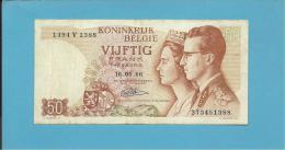 BELGIUM - 50 FRANCS - 16.05.1966 - P 139 - Sign. 21 - King Baudouin I And Queen Fabiola - BELGIE BELGIQUE - [ 6] Treasury