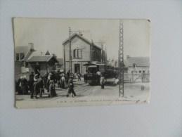 Cp  Le Portel - La Gare Du Tramway Dans L état   ( Déchirure  Aprés Tramway ) - Le Portel