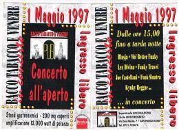 1997 PUB BACCO TABACCO E VENERE,  SAN PAOLO DI JESI (AN): CONCERTO ALL' APERTO   - RIF. 3755 - Musica E Musicisti
