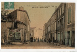 47 - LA PLUME . MAIRIE ET GRANDE RUE - Réf. N°8104 - - Autres Communes