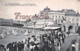 (64) Biarritz - Le Casino Municipal - L'Hôtel Du Palais - Promenoir De La Plage - Excellent état - 2 SCANS - Biarritz