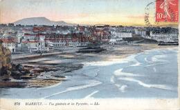 (64) Biarritz -Vue Générale Et Les Pyrénées - Bon état - 2 SCANS - Biarritz