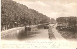 SEMPIGNY (60400) - Navigation Fluviale : Vue Prise Du Pont Du Canal - Péniches En Activité. CPA Précurseurs. - France