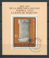 BL6-152 ROUMANIA 1974 YV M/S, BLOCK 112 1850th ANNI CLUJ VILLAGE . USED, GEBRUIKT, OBLITERE. - Hojas Bloque