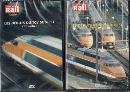 TRAINS FRANCE :LES DEBUTS DU TGV SUD-EST LOT DE 2 DVD La Vie Du Rail - Documentaires