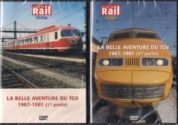 TRAINS FRANCE : LA BELLE AVENTURE DU TGV 1967-1981 LOT DE 2 DVD La Vie Du Rail - Documentaires