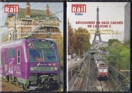 """TRAINS : LOT De 3 DVD PARIS (75) """"TRANSILIEN"""" Le Face Cachée De La Ligne C -  La Vie Du Rail - Documentary"""