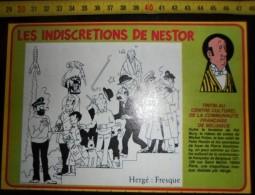DOCUMENT HERGE TINTIN LES INDISCRETIONS DE NESTOR LE DESSIN DE LA FRESQUE - Old Paper