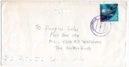 VANUATU - COVER TO NETHERLANDS / THEMATIC STAMP-FISH / DOLPHIN - Vanuatu (1980-...)