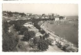 Cp, 83, Sainte-Maxime-sur-Mer, La Promenade Et La Plage, Voyagée 1950 - Sainte-Maxime