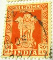 India 1957 Service Asokan Capital 20np - Used - Dienstzegels