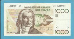 BELGIUM - 1000 FRANCS - ND ( 1980 - 96 ) - P 144.a - Sign. ( 4 - 12 ) - ANDRE GRETRY  - BELGIE BELGIQUE - 1000 Francs