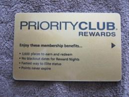 Priority Club Rewards - Hotel Keycards