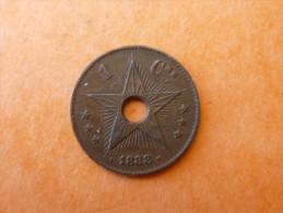 1 CENTIME CONGO BELGE 1888 - Congo (Belge) & Ruanda-Urundi