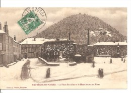 BRUYERES EN VOSGES (88) - La Place Stanislas Et Le Mont Avison En Hiver - Bruyeres