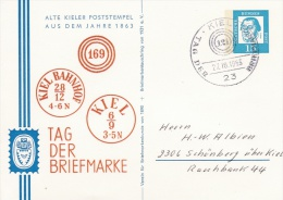 Germany, Special Cachet: 1963 Kiel Tag Der Briefmarke    (G43-70A) - BRD