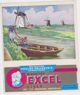 Buvard :  collection Moulins Hollandais - Biscottes EXCEL