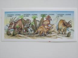 Sierra Leone-Dinosaurs-Prehistor Ic - Briefmarken