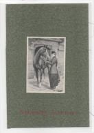 Image Collée Sur Support  - Femme Et Cheval  (74369) - Vieux Papiers