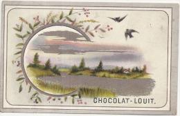 Chromo Chocolat Louit Chromo  Paysage Argenté TTBE (environ 15cm) - Louit