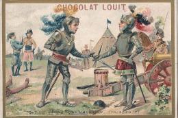 Chromo Chocolat Louit Chromo  Histoire De FRANCE  François Premier  Draps D'or TB - Louit