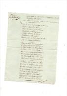 Couplet Chanté à M.Le Duc D'Angoulème Lors De Son Passage En Vendée.sur L'air:femme Voulez Vous éprouver.1 Page.(19e) - Manuscripts