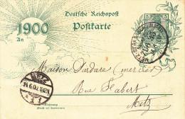 EP 5 Pfg Obl METZ -  STRASSBURG (ELSASS) ZUG 35 Du 14.6.00 Adressé à Metz - Poststempel (Briefe)